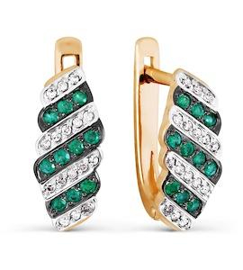 Серьги с изумрудами и бриллиантами Т141026767_3