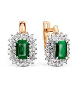 Серьги с изумрудами и бриллиантами Т141028062_2