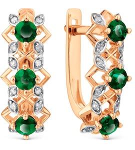 Серьги с изумрудами и бриллиантами Т141028326_3