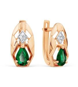 Серьги с изумрудами и бриллиантами Т141028700_3