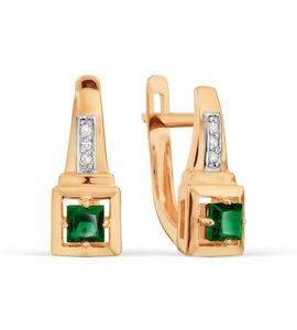 Серьги с изумрудами и бриллиантами Т141029207_2