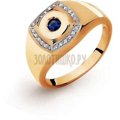Кольцо с бриллиантами и сапфиром Т141046581