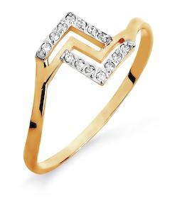 Кольцо с фианитами Т142015460