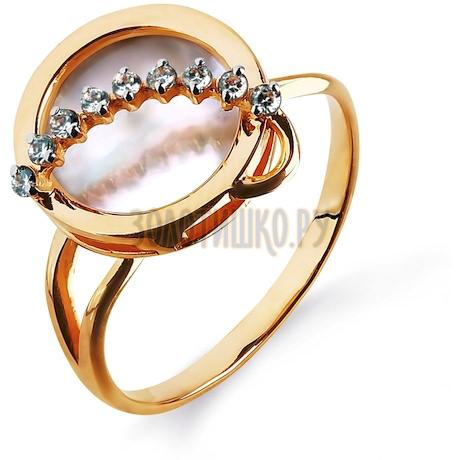 Кольцо с перламутром и фианитами Т143014790