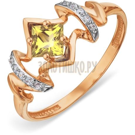 Кольцо с цитрином и фианитами Т143018505