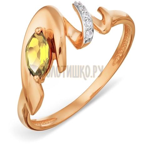 Кольцо с цитрином и фианитами Т143018506_2