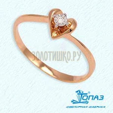 Кольцо с бриллиантом Т145611639