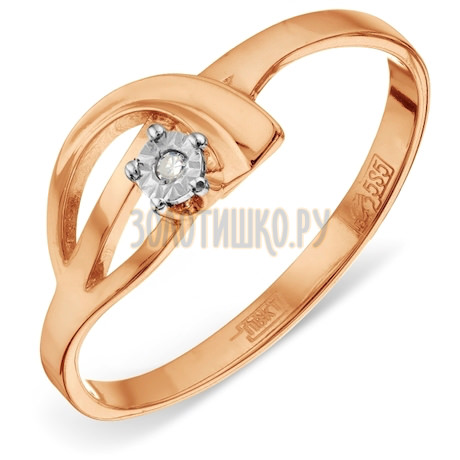 Кольцо с бриллиантом Т145611825