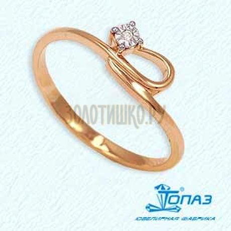 Кольцо с бриллиантом Т145611828
