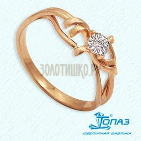 Кольцо с бриллиантом Т145611958