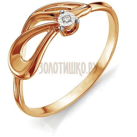 Кольцо с бриллиантом Т145613396
