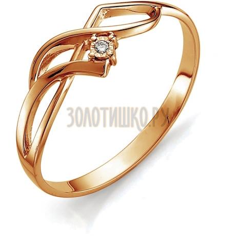 Кольцо с бриллиантом Т145613405