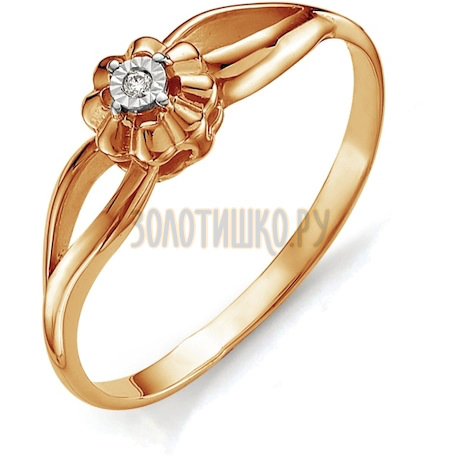 Кольцо с бриллиантом Т145613406