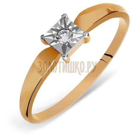 Кольцо с бриллиантом Т145613477