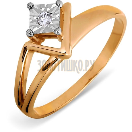 Кольцо с бриллиантом Т145613492