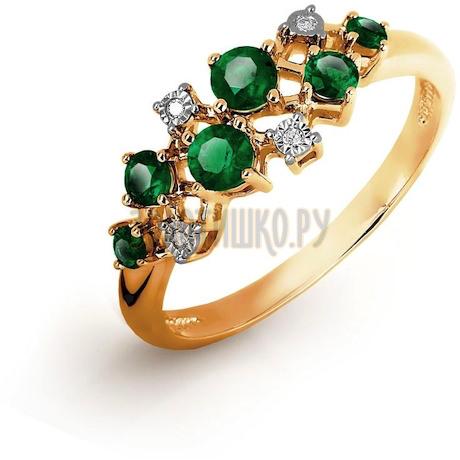 Кольцо с изумрудами и бриллиантами Т145616491