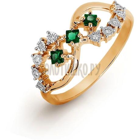Кольцо с изумрудами и бриллиантами Т145616493