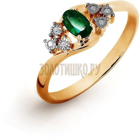 Кольцо с изумрудом и бриллиантами Т145616497