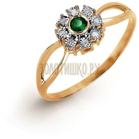 Кольцо с изумрудом и бриллиантами Т145617282