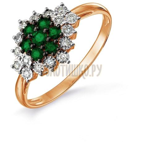 Кольцо с изумрудами и бриллиантами Т145617667