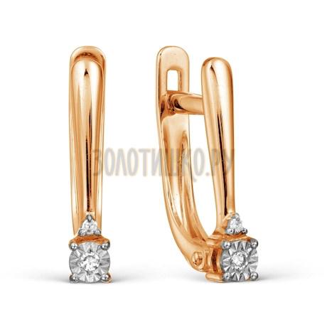 Серьги из красного золота Т145627850