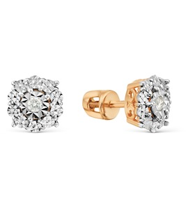 Серьги с бриллиантами Т145629627