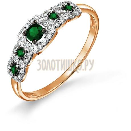 Кольцо с изумрудами и бриллиантами Т146017672_2