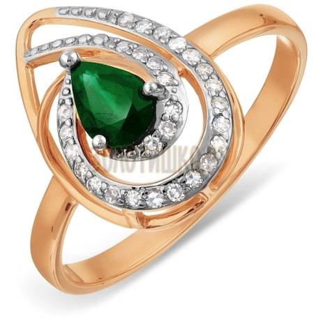 Кольцо с изумрудом и бриллиантами Т146017794