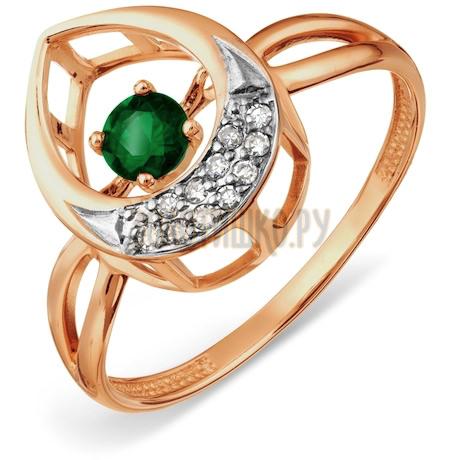 Кольцо с изумрудом и бриллиантами Т146017908_2
