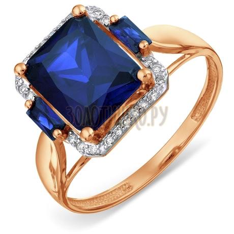 Кольцо с бриллиантами и сапфирами Т146017937