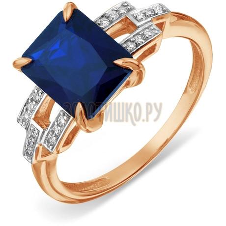 Кольцо с бриллиантами и сапфиром Т146017940