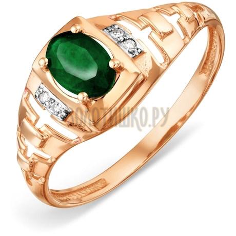 Кольцо с изумрудом и бриллиантами Т146018453