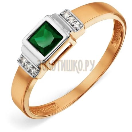 Кольцо с изумрудом и бриллиантами Т146018857