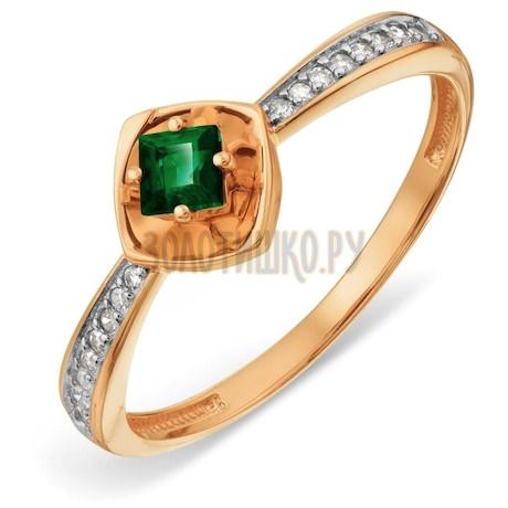Кольцо с изумрудом и бриллиантами Т146018876_3