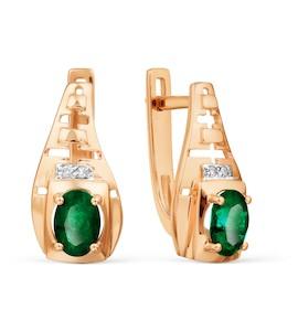Серьги с изумрудами и бриллиантами Т146028704_2