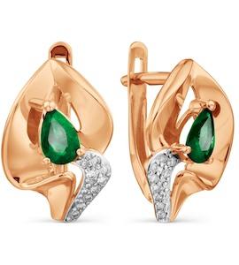 Серьги с изумрудами и бриллиантами Т146029006_3