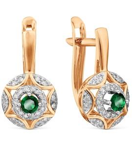 Серьги с изумрудами и бриллиантами Т146029625_3