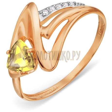 Кольцо с цитрином и фианитами Т147018507
