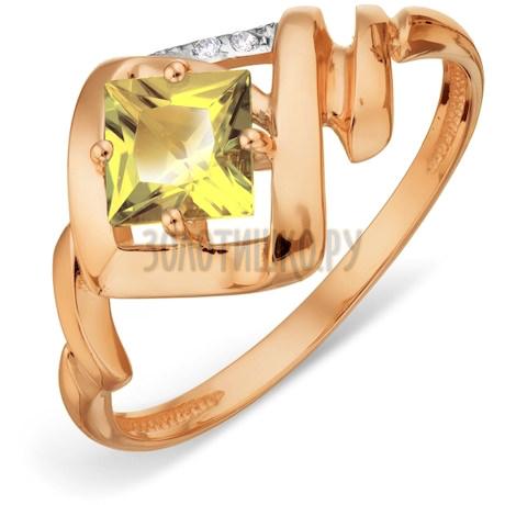 Кольцо с цитрином и фианитами Т147018509_2