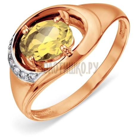 Кольцо с цитрином и фианитами Т147018585