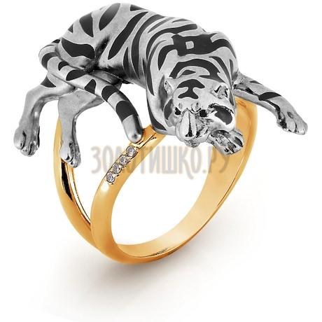 Кольцо с бриллиантами и эмалью Т181014980-1