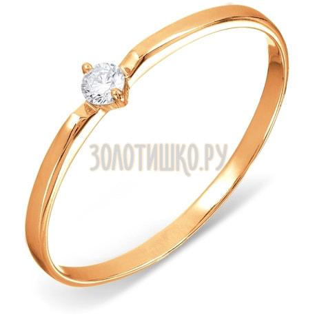 Кольцо с бриллиантом Т241015312