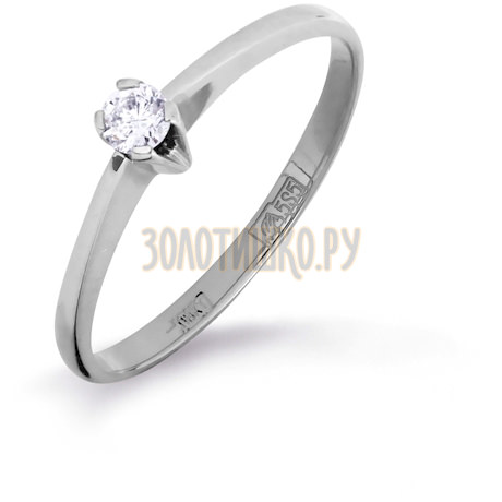 Кольцо с бриллиантом Т301011076