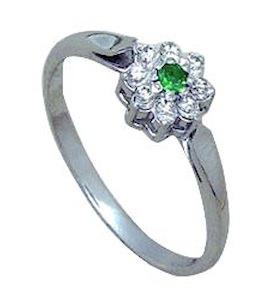 Кольцо с изумрудом и бриллиантами Т301011139