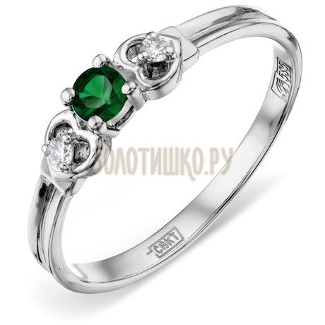Кольцо с изумрудом и бриллиантами Т301011260_3