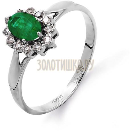 Кольцо с изумрудом и бриллиантами Т301011312_3