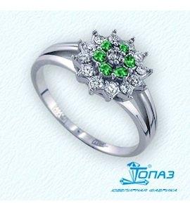 Кольцо с изумрудами и бриллиантами Т301011319