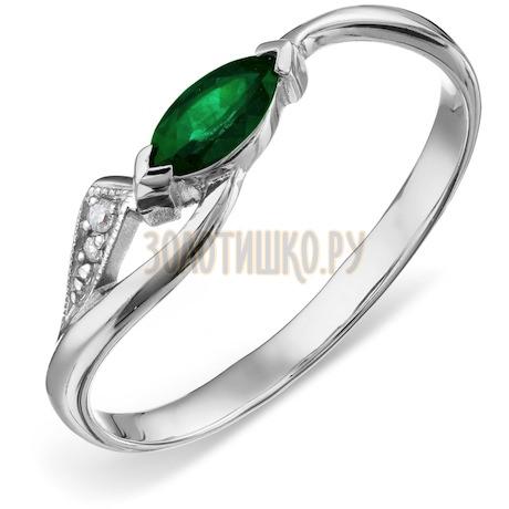 Кольцо с изумрудом и бриллиантами Т301011339_3