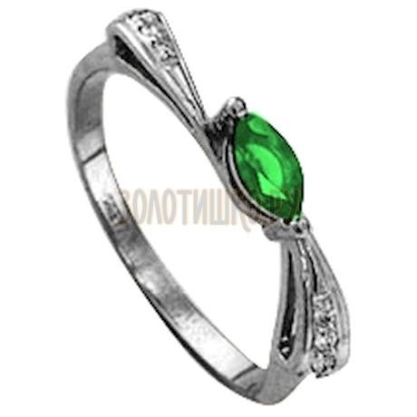 Кольцо с изумрудом и бриллиантами Т301011342_3
