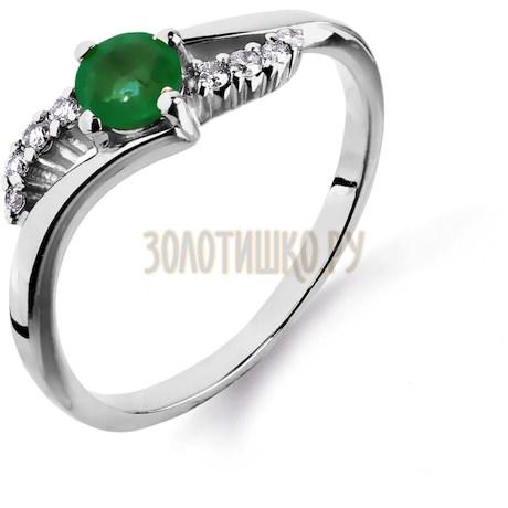 Кольцо с изумрудом и бриллиантами Т301011346_3